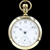 BIG Gold 1893 Elgin BW Raymond RAILROAD Grade Pocket Watch Heavy 18s Antique