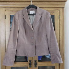 Next Faux Suede Jacket  Dark Beige Size 14 Immaculate