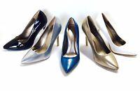 "NEW Women Classic Glossy Pointy Toe Stiletto 4"" High Heel Party wedding dress"