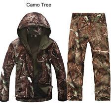 2PCS New Outdoor Winter Hunting Mens Jacket Coat +pants Waterproof Coat Thicken