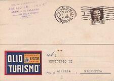 FOLTZER LUBRIFICANTI - GENOVA -  1941 agenzia di PALERMO  per MISTRETTA