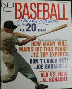 Mickey Mantle (d.1995) Signed Autographed Magazine 1962 NBC SPORTS BASEBALL JSA