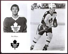 1977-78 NHL Toronto Maple Leafs TEAM issue B&W 8x10 PHOTO PICTURE Ron Wilson
