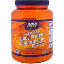 NOW Sports Grass-Fed Whey Protein Concentrate Powder Creamy Vanilla - 1.2 lb