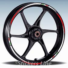 Adesivi ruote moto strisce cerchi YAMAHA FZ8 FZ-8 FZ 8 Racing 3 wheel stickers