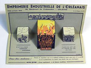 Publicité dépliants de l'Imprimerie Industrielle de l'Orléans. Vers 1940