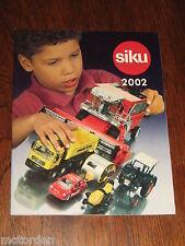 SIKU 32pg color CATALOGUE/catalog 2002 range German toy/model cars, FREE POST