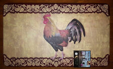NWT ROOSTER FLORAL PAISLEY KITCHEN CHEF MAT CUSHION FOAM RUG BEIGE BURGUNDY