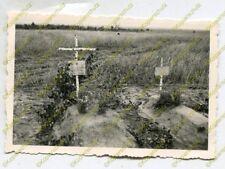 Foto, 2./Nachrichten-Abteilung 134, Grab der Kameraden in Rakschin, (W)20029