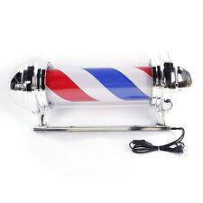 "30"" Modern Barber Shop LED Light Sign Hair Salon Pole Red White Bule Rotating"