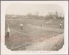 Vintage 1910 Photo Tennis Court at Concordia University Illinois 741715