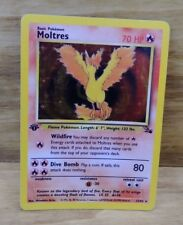 x 1 Pokemon Moltres 12/62 1st Edition First Ed Fossil Set Holo Foil
