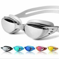 NEW Adjustable Anti Fog UV Waterproof Glasses Swimming Goggles + Earplug Adult