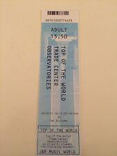 World Trade Center Ticket 09.09.2001 Kopie