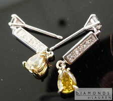 1.15ctw Yellow and Colorless Diamond Earrings R7817 Diamonds by Lauren