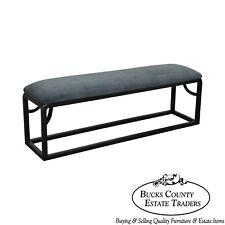 Custom Black Painted Long Bench (B)