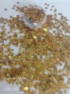 2ml Pot Gold Holographic Stars Craft Embellishment Shaker Cards Table sprinkles