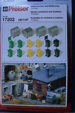 Preiser 17202 HO 1:87; Müllcontainer , OVP