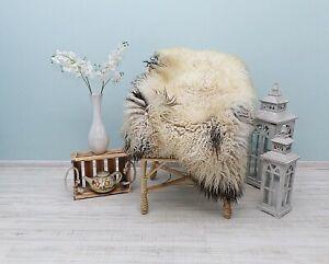 Natural Sheepskin Carpet, Real Gotland Fur Throw,Exclusive Sheepskin Sofa Cover