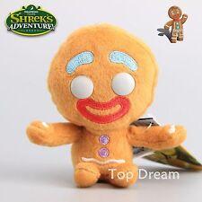 Shrek Adventure Gingerbread Man Gingy Plush Toy Soft Doll 4.5'' Keychain Gift