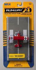 SE 5 RED BARON BI-PLANE RUNWAY 24 MINI AIRPLANE AIRCRAFT DARON TOYS