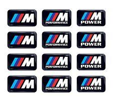 12pc BMW M Power Performance 3d domed sticker decal emblem wheel key fob