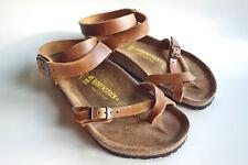 BIRKENSTOCK Waxy Leather Ankle Sandal YARA Antique-Brown EU41 US10 UK7.5 Regular