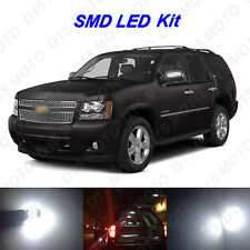 18x White LED interior Bulb+ Fog+ Reverse + Tag Lights For 2007-2014 Chevy Tahoe