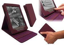 Amazon Kindle 4 LUSSO LUXFOLIO PU Pelle DUAL FLIP STAND CUSTODIA COVER-Viola