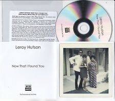 LEROY HUTSON NOW THAT I FOUND YOU 1 TRACK PROMO CD [THE IMPRESSIONS]