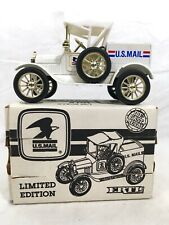 ERTL DIE CAST US MAIL 1918 FORD RUNABOUT COIN BANK 1988 #A46