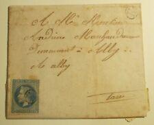 n°29 Napoléon lauré sur lettre 20c bleu oblitéré cachet H , LOT 23