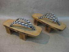 Vintage Geta Sandals / Shoes ~ Wood Clogs / Flip Flops ~ Japanese / Chinese ~ 9""