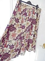 COTTON TRADERS Ladies Size 20 Multi Navy Blue Pink Floral Print Maxi Skirt NEW