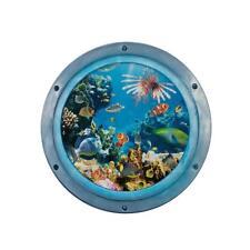 3D Blue Sea World Removable Wall Stickers Vinyl Decals Kids Room Art Decor