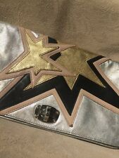 $1350 MIU MIU Soft Calf Leather Rockstar Clutch  - Stars w/Chrome