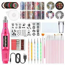 Nail Art Tools Decoration Kit, 3D Nail Art Supplies Includes Nail Drill, Nail