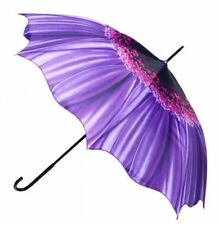 Gorgeous Purple Gerbra Flower Lady Sun Parasol Rain Umbrella ~ Mothers Day Gift
