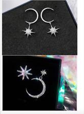 LOT 6 paire boucle d/'oreille étoile strass brillant de couleur puce 5 mm réf 504