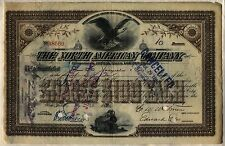 North American Company Stock Certificate New Jersey