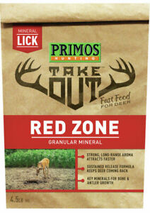 PRIMOS HUNTING: TAKE OUT - RED ZONE - GRANULAR MINERAL - 4.5LB BAG - NEW