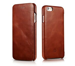 Novada Genuine Vintage Leather Flip Case Cover for iPhone 6 6S & 6 6S Plus