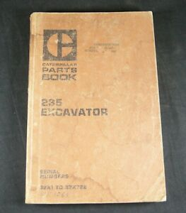 Caterpillar 235 Parts Manual Book Catalog Excavator List Guide 32K1 CAT
