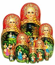 Kalinka Nesting Doll 10 Piece Russian Exclusive Babushka Stacking Hand Painted