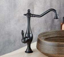 Bathroom Kitchen Sink Faucet Swivel Mixer Tap Black Antique Deck Mounted Brass