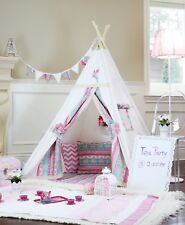 Alice Teepee From Canada With Poles Floor Pillow Cover,LED light,Storage Bag