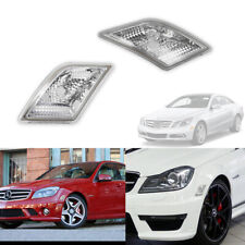 For 2008-2011 Mercedes Benz W204 C-Class Sedan Clear Bumper Side Marker Lights