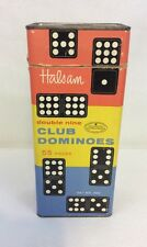 Vintage Dominoe Game Halsam Double Nine Club Dominoes Set #200, 55 Pieces