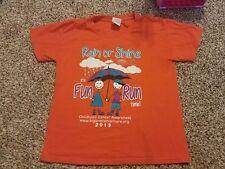 Rain or Shine Fun Run , Childhood Cancer Awareness shirt, 2013