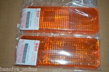 Suzuki SJ Sierra Samurai Front Turn Signal Park Light LENS Pair LH + RH Genuine